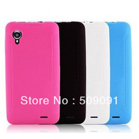 1 pcs/lot Fashion TPU Soft Gel Cover Case For Lenovo p770 Lenovo p770i Protective Shell with black,white,blue,red available