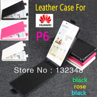 Pouch Leather Flip Bag Case Cover Skin For Huawei Ascend P6 Colorful + Screen Protector + Wholesale