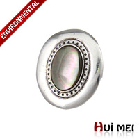 Free Shipping New Fashion Silver Plated Ethnic Vintage Punk Chunky Shell Stone Adjustable Charms Rings Jewelry
