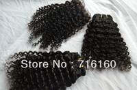 Free DHL mongolian kinky curly hair 3 bundles with middle part closure 5A mongolian kinky curly hair and lace closure,4pcs lot