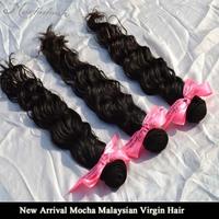 Mocha Hair 3 or Mix 3 pcs lot Virgin 7A Unprocessed Malaysian Hair Natural Wave Wholesale Natural Color Tangle Free