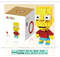 anime Simpson action figure ABS building blocks 200 pcs/box free shipping 0212