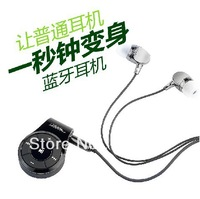 Stereo bluetooth headset  Mobile phone universal sports music character bluetooth headset with not earphone  cord Free Shipping