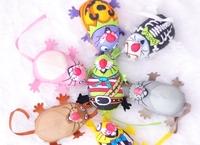 3 pc Random Color Rats /1 lot  The cartoon Cotton animal shapes Cat Toys Pet  dog Toys