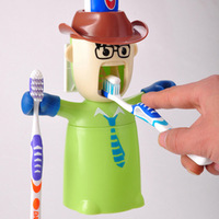 Green Love warriors wash set toothbrush holder toothpaste dispenser wash Kit creative life couple brushing Cups FREE SHIPPING