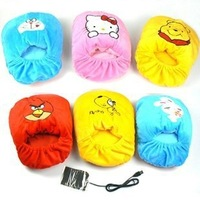 Cartoon usb warm feet treasure unpick and wash warm baby heating shoes plush heated shoes 34208