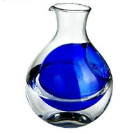 Japanese style glass pot blue liner ice wine pot glass clear jug  glass cup wine cup glass