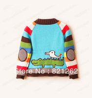 2013 new autumn and winter children clothing girls boys sweaters coat jacket cartoon christmas fashion candycolor 3-10T