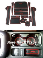 For VW Tiguan car Gate slot pad / cup mat / non-slip pad silicone pad 13PCS