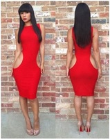 2013 New Fashion Free shipping  wholesale bandage dress hot bodycon dress sexy women elegant party dresses Sleeveless LYQ1390