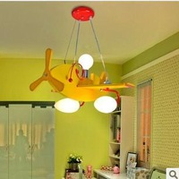 Boy child led lamp bedroom lamp cartoon pendant light yellow light aircraft child led lamps lighting free shipping