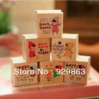 Wholesale 6 different design per set/ 50 sets a lot cartoon stamp teacher stamp multicolour toy stamps by DHL for free