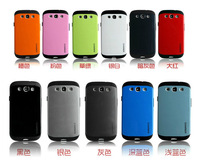 [50pcs/lot] Wholesale DHL Free Shipping SGP Armor Pattern PC+Silicon Back Case For Samsung i9300 Galaxy S3, 10 Colours