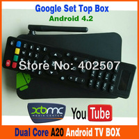 Set top box MX5 Dual Core Android Smart TV Box XBMC Media Player Center Smartphone Remote Control AMLogic 8726 M6 Free Shipping