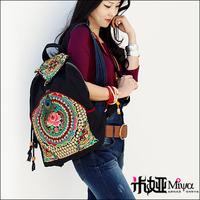 Original design high quality handmade chinese embroidery bags national trend female bags messenger bag handbag canvas bag