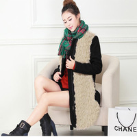 Korean version of the new counter genuine brand women warm winter warm thick velvet jacket wholesale stitching Lamb