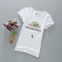 9.9 white short-sleeve T-shirt female summer school wear summer print t-shirt
