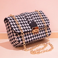 women woolen texture messenger bags new 2013 fashion items plaid pattern ladies shoulder bags brand PU leather casual purse