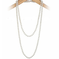 For nec  klace necklace female fashion long design all-match simulated-pearl necklace vintage multi-layer long necklace