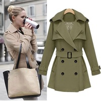 2013 Hitz European and American women's long coat Slim Spring windbreaker jacket for women 486