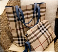Fashion all-match fashion plaid women's messenger bag in bag big bag