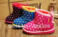 Free shipping new boys and girls winter snow boots , warm boots non-slip, comfortable cotton boots cartoon cute
