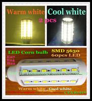 Free shipping 2pcs/iot E27 E14 B22 15W SMD 5630 60 LED 110-240V high power LED corn bulb SMD lamp Maize Light warm/cool white