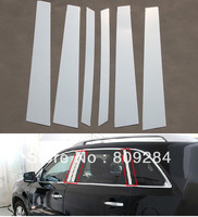 Free shipping! 2013 Sorento 6 pcs Stainless steel window middle pillar trim B Pillar + C Pillar  for Sorento 2013