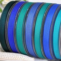 100 Yards 3/8'' Dark Blue Series Solid Grosgrain Ribbon For Hair Bows Hair Clips Garment Accessories No. Y2