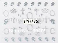 HOTSALE 50Sheet/LOT Fashion 3D Gold&Silver Nail Sticker for nail art decorations nail accessories+individually packaging