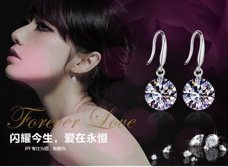 High fashion simulation 1 carat diamond earrings party pendant jewelry earring - free shipping(China (Mainland))