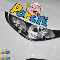 Free shipping New style Popeye sticker the car lamp eyebrow and whole body decoration accessories stickers for cruze and so on