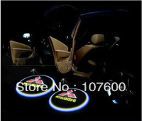 Car logo Shadow light for MITSUBISHI The second generation 7W LED Car Door Welcome Light Laser Lights with car logo Shadow light