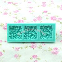 Free shipping 1 set  tracery wall shape chocolate silicon mold fondant Cake decoration mold