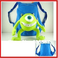 Free shiping Monsters University, Mike Sullivan figures backpack school bag kids gift