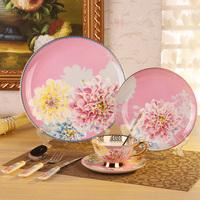 Free shipping, Flourishing peony dinnerware set