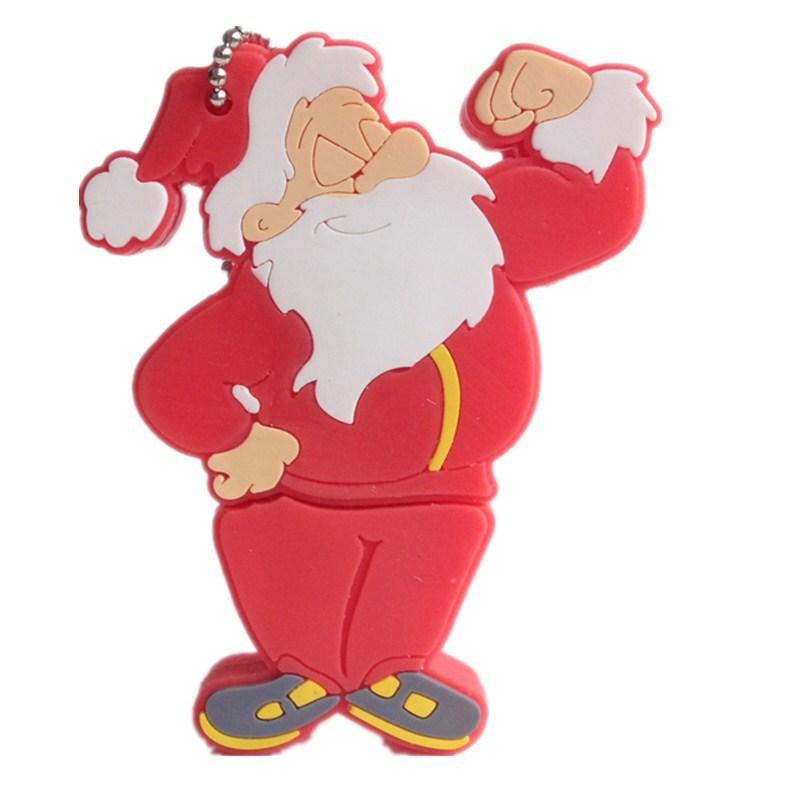 disk pendrives cartoon Christmas tree pendrive 4gb 8gb 16gb 32gb Santa Claus usb flash drive gift pen drive memory stick(China (Mainland))