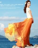 HOT SALE ! Free shipping 2013 new design 8 meters skirt women's fashion long skirt summer chiffon skirt The fairy skirt