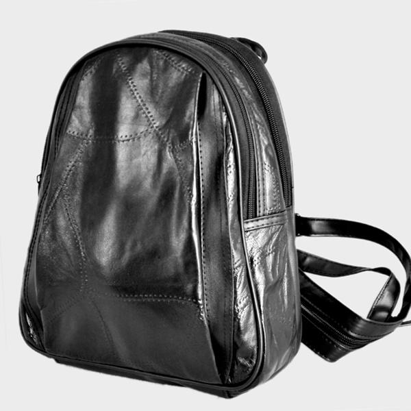 Promotion ! 100% sheepskin genuine Leather Black Bag for women lady backpack Shoulder totes satchel goatskin casual Bags(China (Mainland))