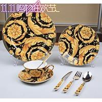 Free shipping, Fashion west tableware bone china ceramic western dish gift fashion tableware bone china dinnerware set