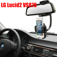 New 360 Degrees Rotation Car Rearview Mirror Holder GPS Mount Stand For LG Lucid2 VS870 Free Shipping