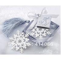 12pcs/lot Free Shipping Snowflake Shape Promotion Antique Silver Fashion Bookmarks Wholesale