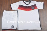 2014 world cup Germany home soccer football jersey + Shorts SCHWEINSTEIGER OZIL best quality soccer uniforms jerseys .free ship