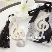 12pcs/lot Free Shipping music Shape Promotion Antique Silver Fashion Bookmarks Wholesale