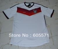 ^_^ 2014 world cup germany home soccer jerseys thai 3A+++ soccer uniforms TOP quality  free shipping customized free