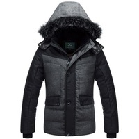 2013 wadded jacket male winter outerwear personality male casual wadded jacket thickening male winter clothes