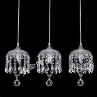 Cd6910-3 lamps pendant light modern brief crystal pendant light bedroom crystal lamp living room lights pendant light