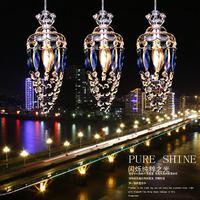 2014 Sale Lustres Home Decoration Abajur Led Crystal Pendant Light Restaurant Lamp Modern Brief 3 Entrance Lights Living Room
