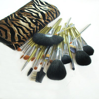 Cosmetic brush set professional pupa24 leopard print sable set cosmetic tools
