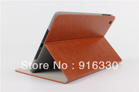 new arrival Hot stamping single flower imitation leather case For ipad mini case